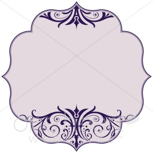 Purple Scroll Bracket Clipart.
