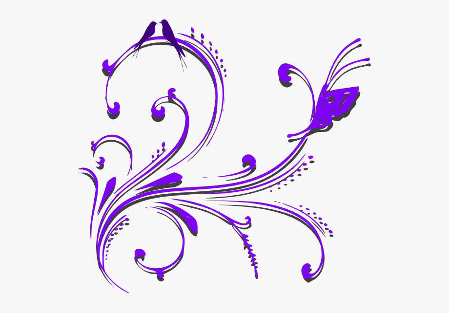 Picture Library Stock Purple Scroll Clipart.