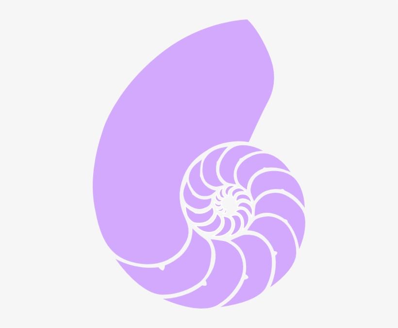Purple Seashell Clipart.