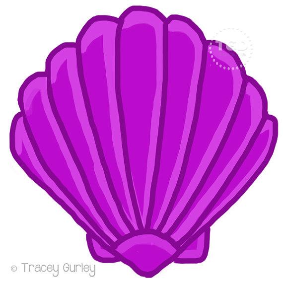 Purple Scallop Shell.