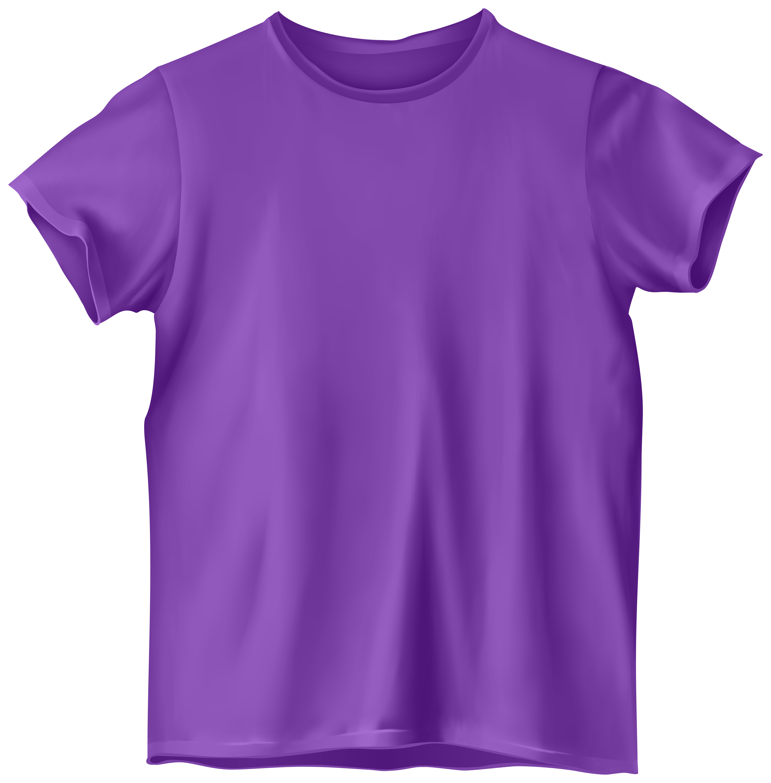 Purple T Shirt PNG Clip Art.