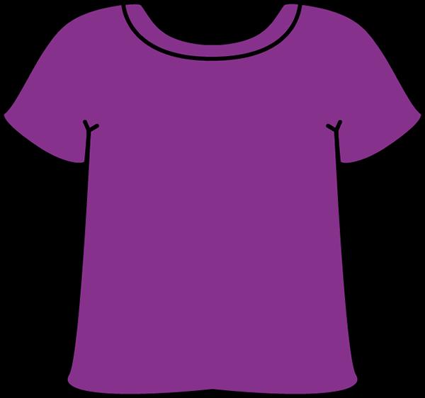 Purple shirt clipart kid.