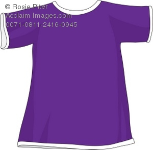 Royalty Free Clipart Illustration of a Purple T.