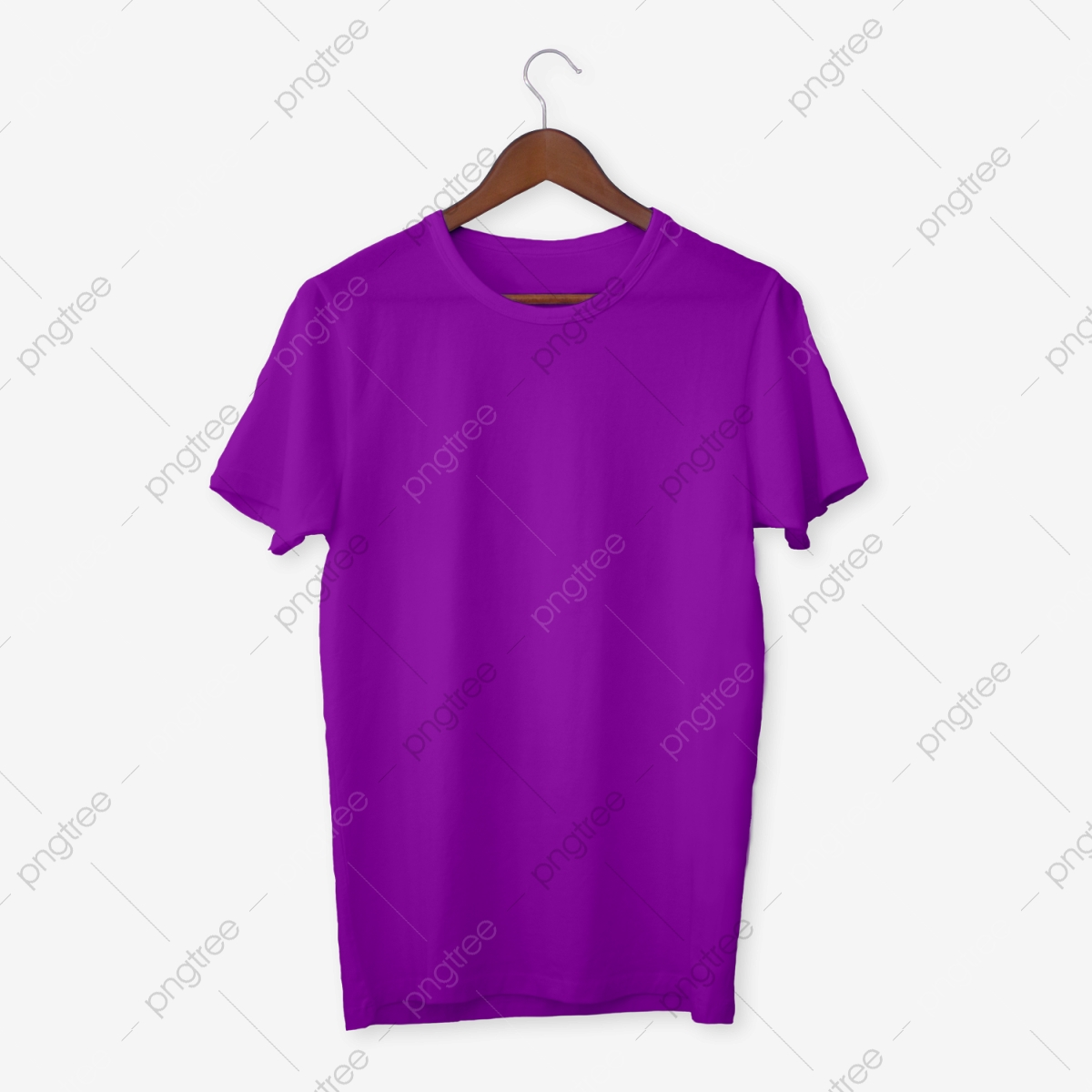 Purple T Shirt Mockup, T Shirts, Mens, White PNG Transparent.