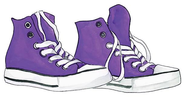 Shoe clipart purple.