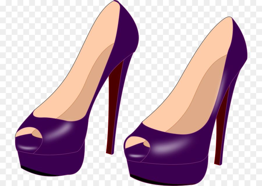 purple shoes clipart High.