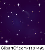 Purple Night Sky Clip Art.