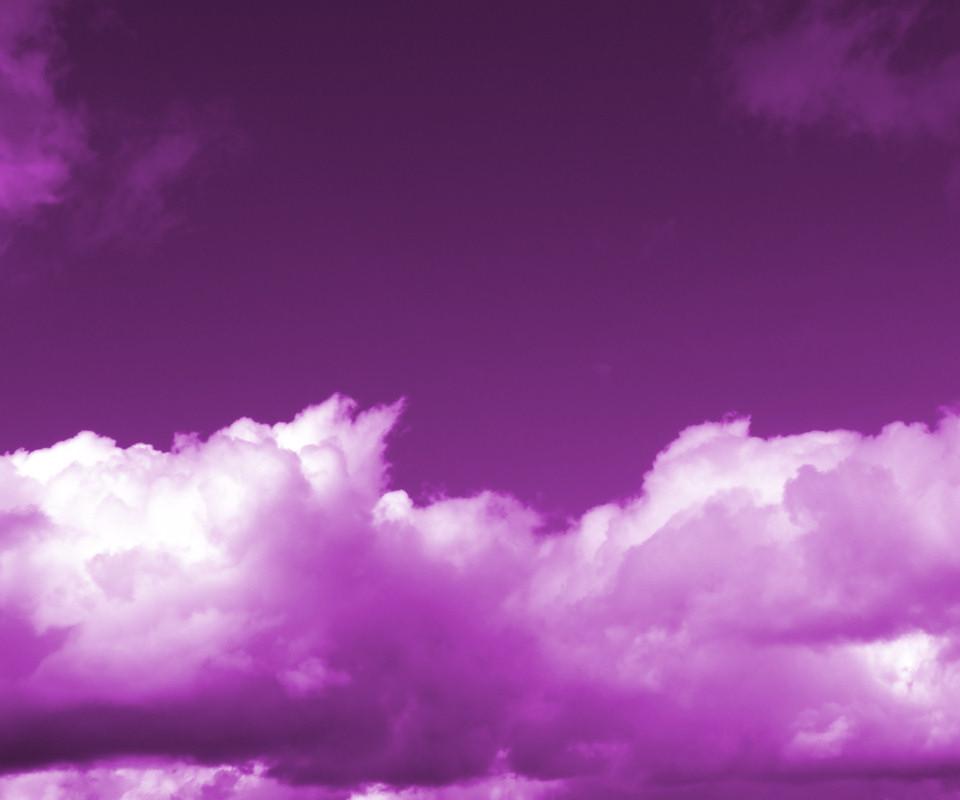 Purple Sky Blue Wallpaper.