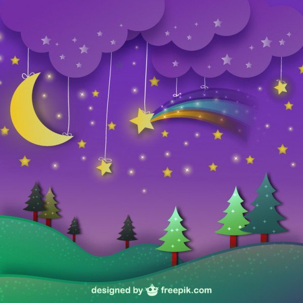 Purple Night Sky Clipart.