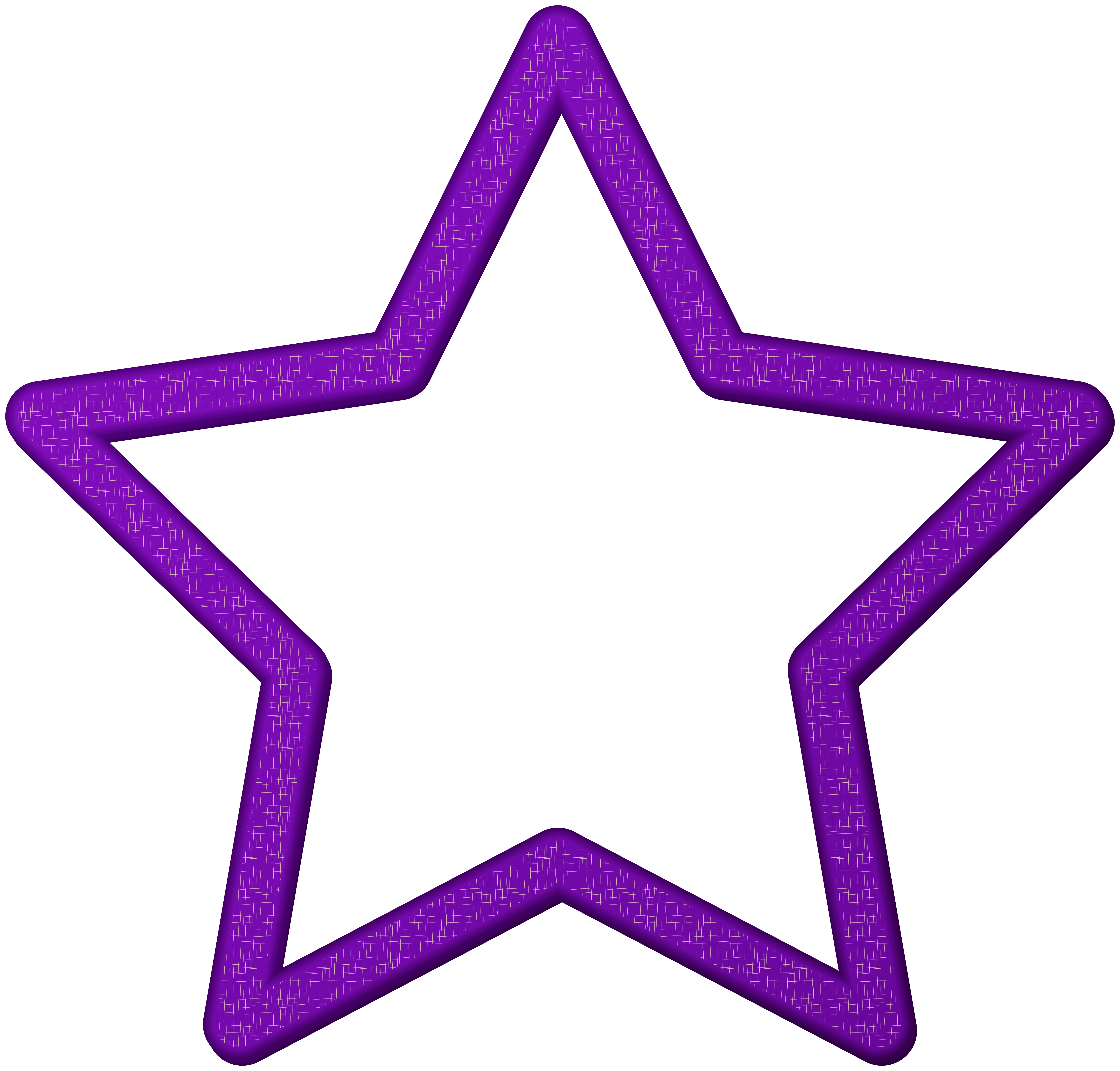 Purple Star Border Frame PNG Clip Art.