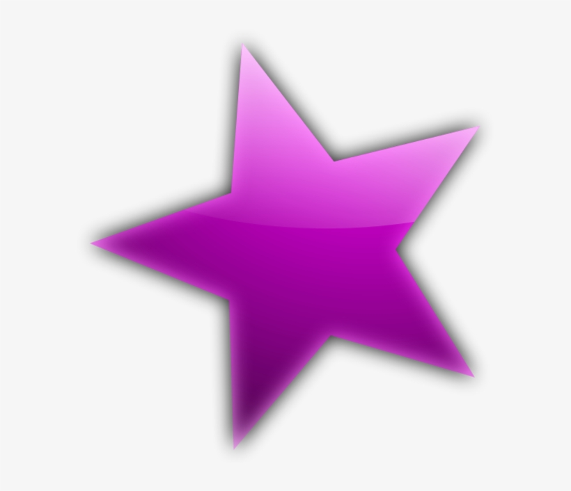 Purple Star Flower Clipart.
