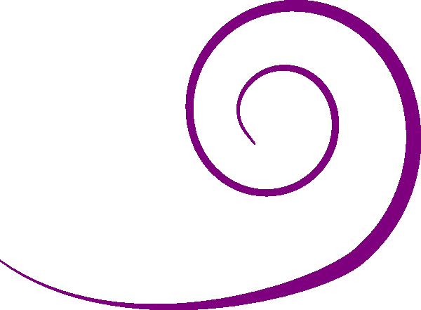 Purple Swirl clip art.