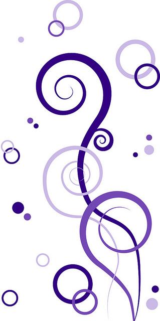 Purple Swirls Clipart.