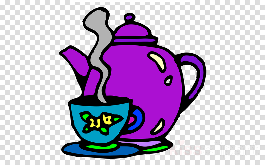 kettle clip art purple teapot tableware clipart.