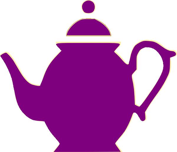 Purple Clipart Teapot.