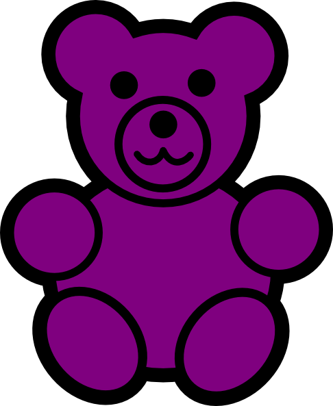 Purple Bear Clip Art at Clker.com.