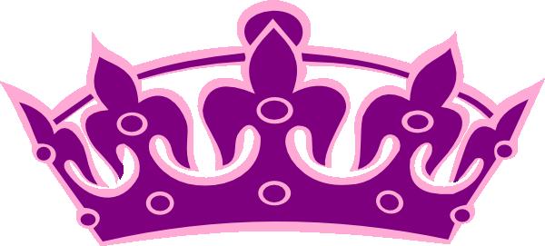 Tiara No Cross Purple On Pink Clip Art at Clker.com.