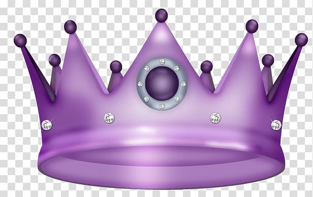 Purple crown transparent background PNG clipart.