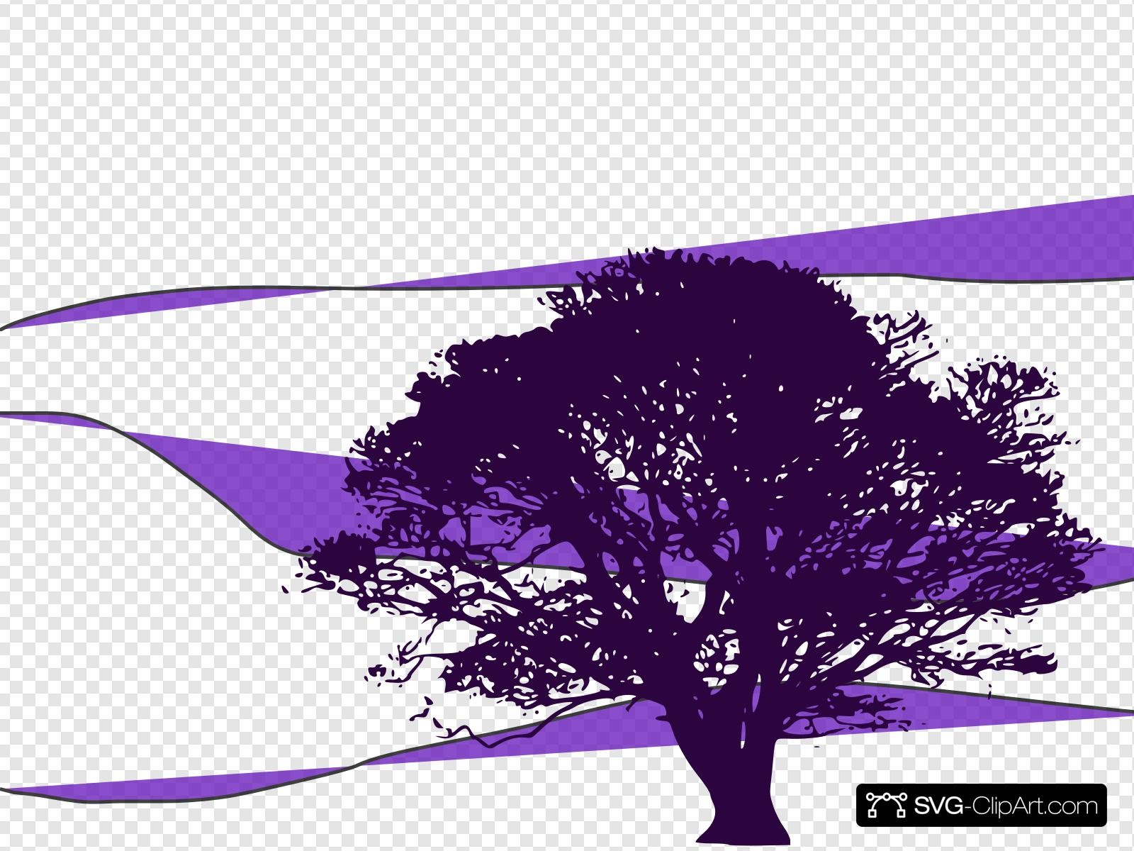 Purple Tree Clip art, Icon and SVG.