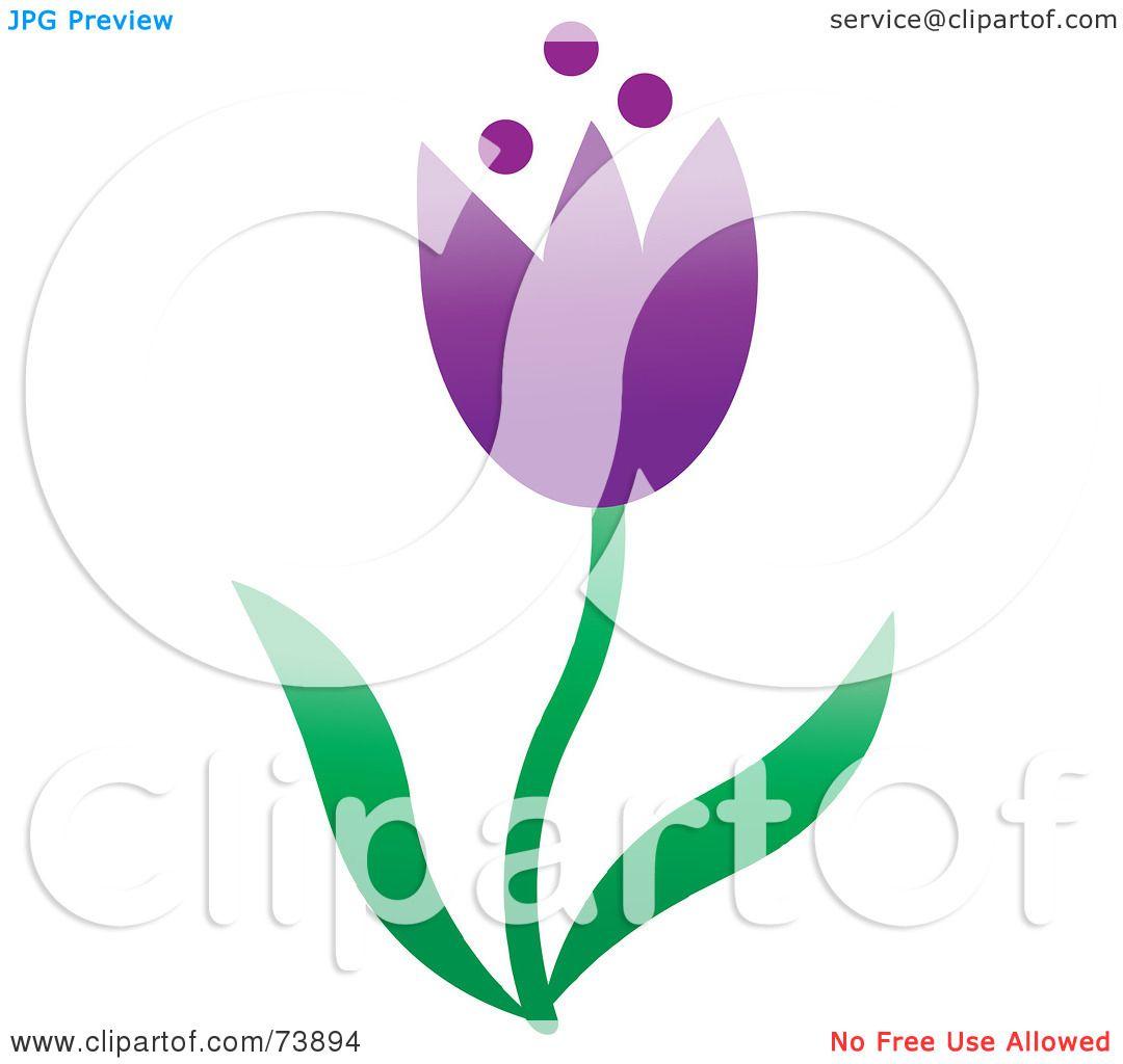 Purple Tulip Clipart.