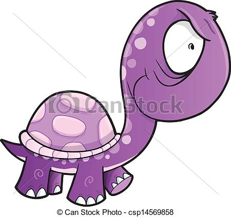 Vector of Crazy Insane Turtle Animal Vector.
