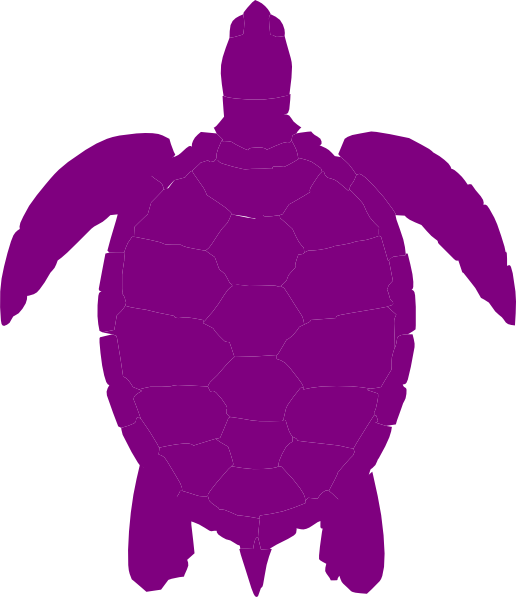 Plum Sea Turtle Clip Art at Clker.com.