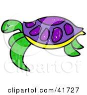 purple turtle clipart #2