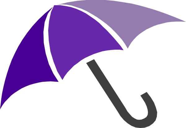 Purple Umbrella clip art.