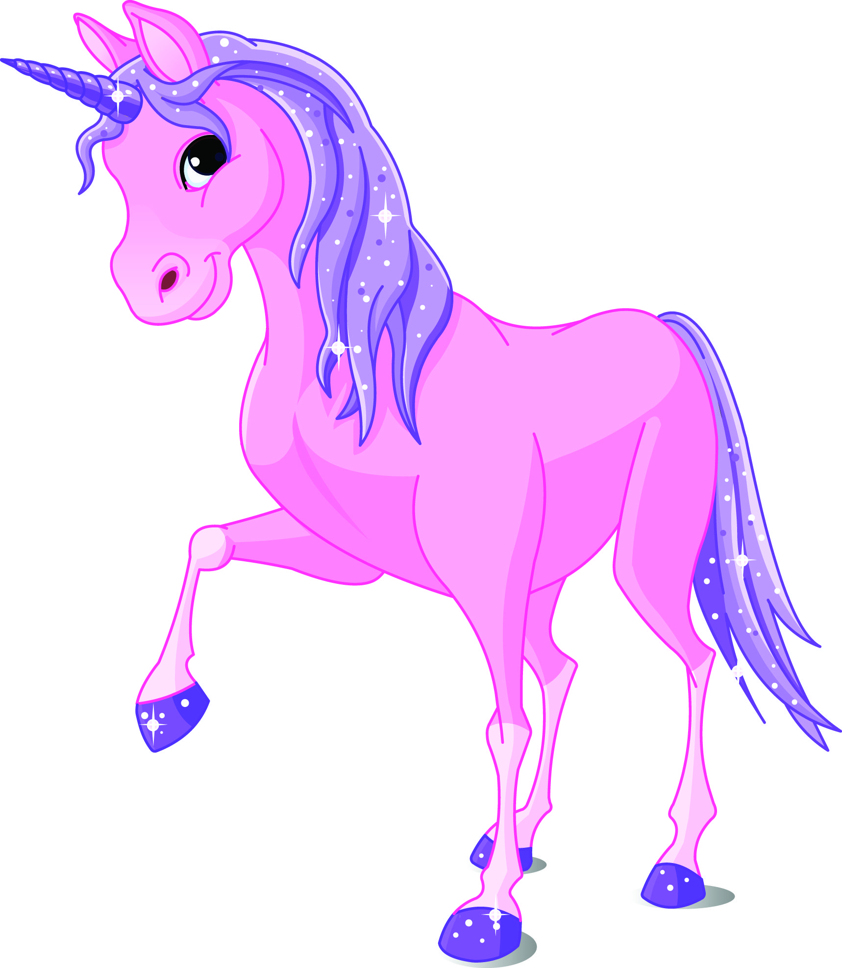 Royalty free clipart illustration of a cute pink and purple.