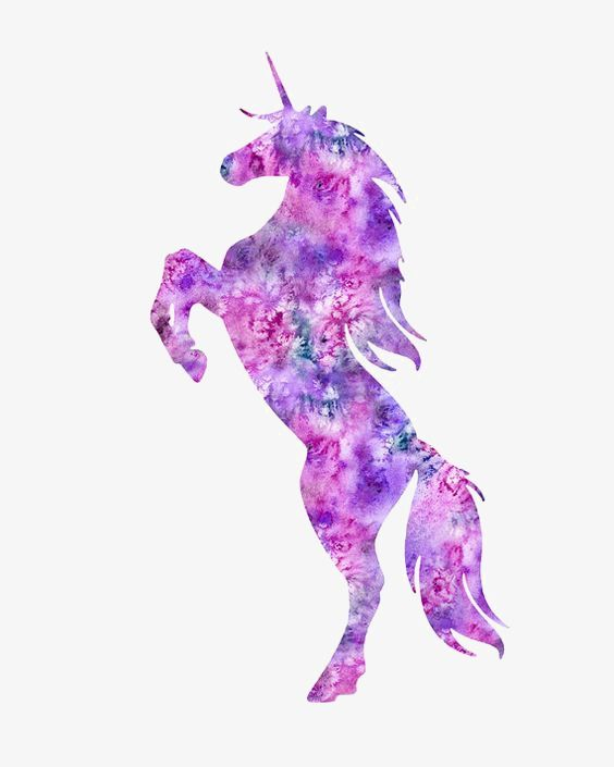 Purple Unicorn, Unicorn Clipart, Cartoon Unicorn, Sketch PNG.