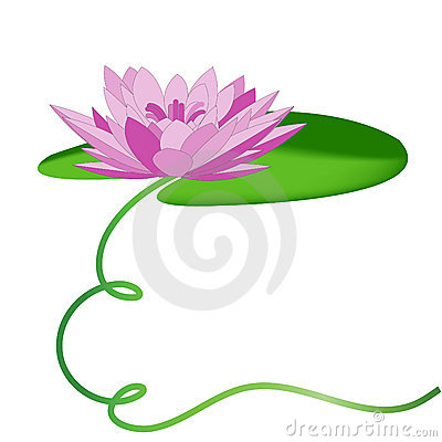Free purple water lily clipart.
