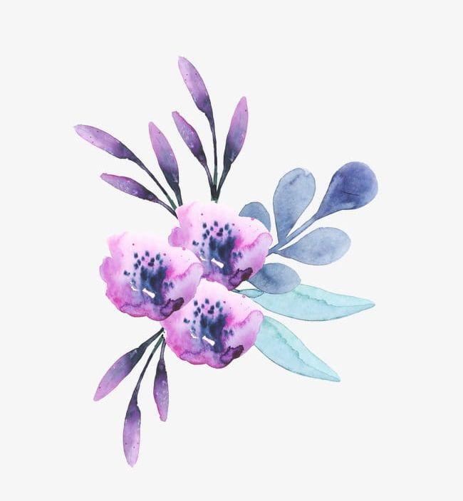 Purple Watercolor Flower Pattern 03 PNG, Clipart, 03 Clipart.