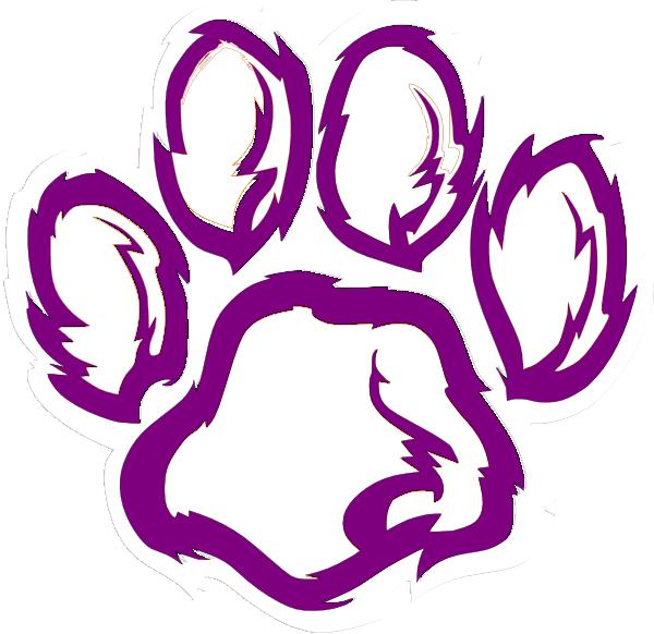 Tiger Paw White Orange Purple Clip Art at Clker.com.