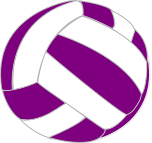 Purple And White Volleyball Clip Art at Clker.com.