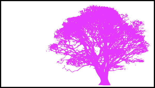 Tree, Purple Silhouette, White Background Clip Art at Clker.com.