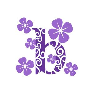 Purple Flower Clipart.