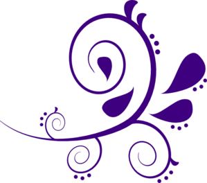 Purple And White Swirl Branch Clip Art at Clker.com.