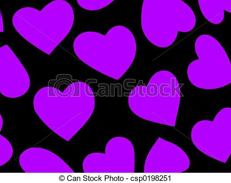 Clipart of Heart Background Pur.