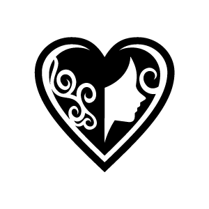 Heart Black And White Pattern Clipart.