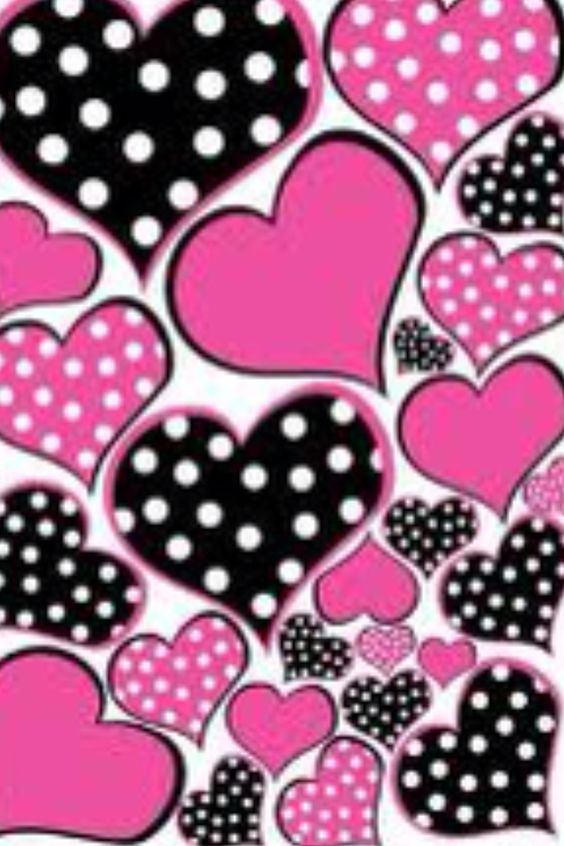 iPhone wallpapers, Polka dots and Heart on Pinterest.