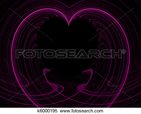 Stock Illustration of Pink and Black Heart Copy Space k6000195.