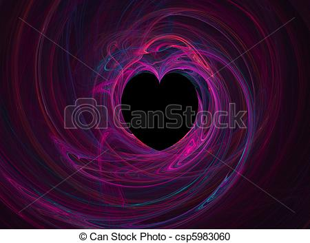Stock Illustration of Black Heart with Multi.