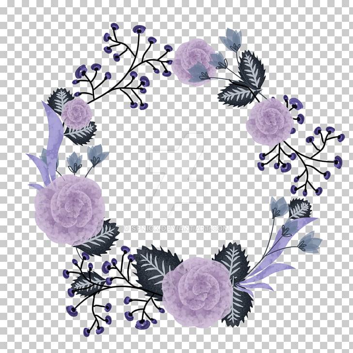 Floral design Purple Wreath Flower Petal, purple PNG clipart.