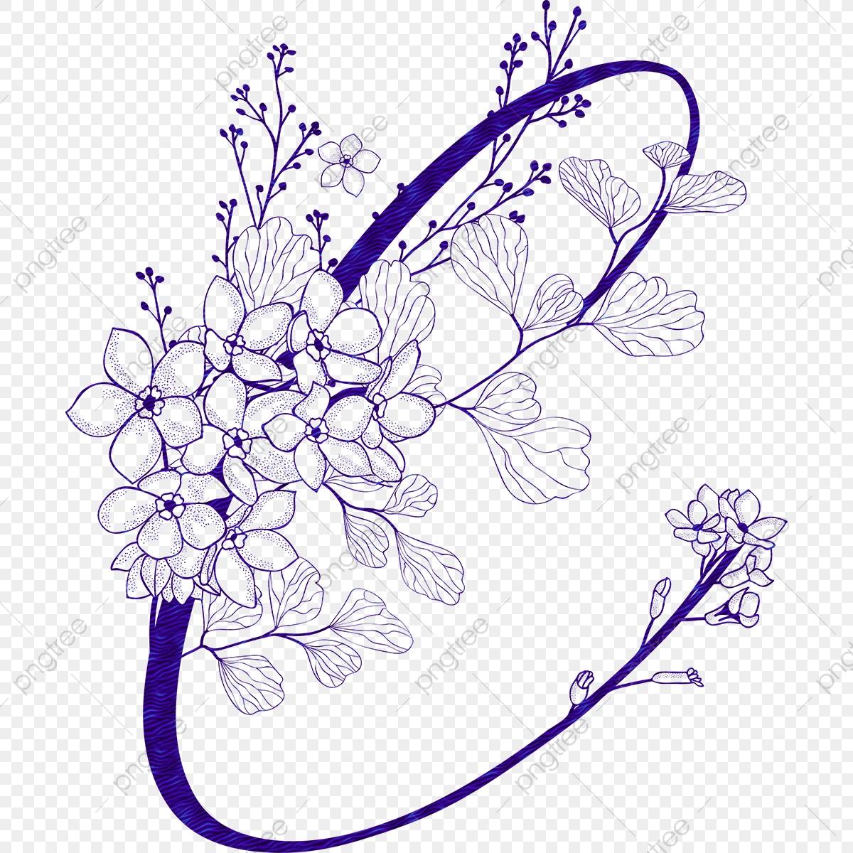 Beautiful Purple Wreath Element, Purple, Wreath, Beautiful.