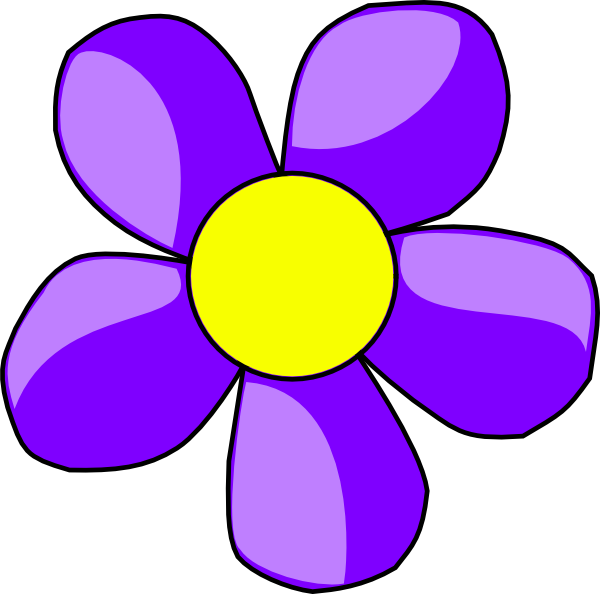 Purple and yellow art clipart.