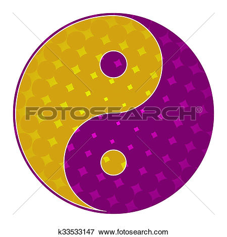 Stock Illustration of Yin Yang Symbol Purple Yellow k33533147.