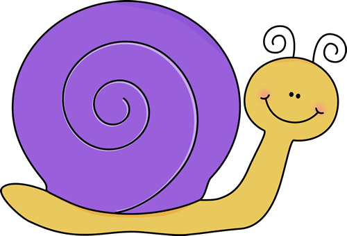 Yellow and Purple Snail Clip Art.