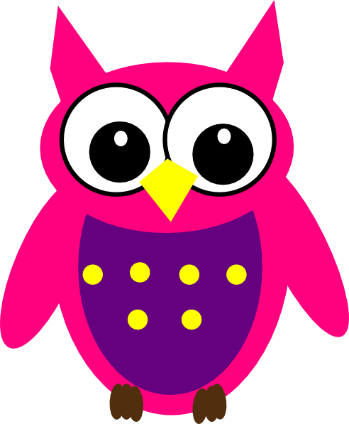 Pink Purple Yellow Owl Clip Art at Clker.com.