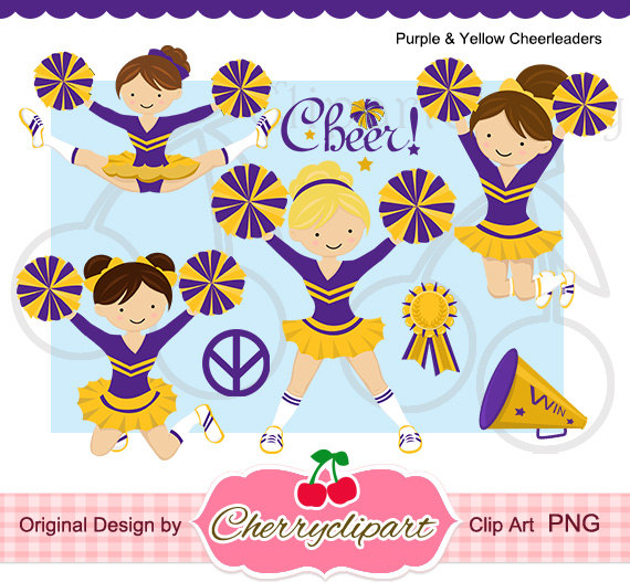 Clip Art Cheerleader Purple Stars Clipart.
