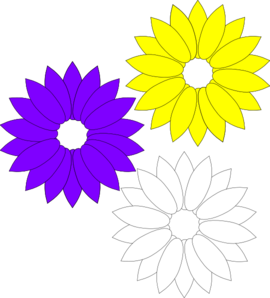 Purple Yellow Flowers Clip Art at Clker.com.